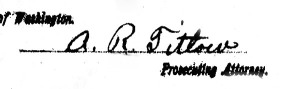 A. R. Titlow signature